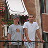 Ross and Kyle in front of Corte Grimani Hotel