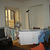 Drying some laundry in our apartment in Rome