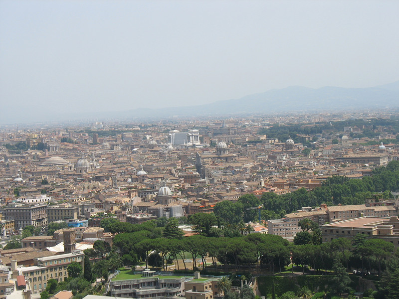 View of Rome from the top of the Dome