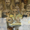 Venician masks in a store window
