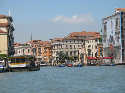 Grand canal in the water taxi on our way to the hotel