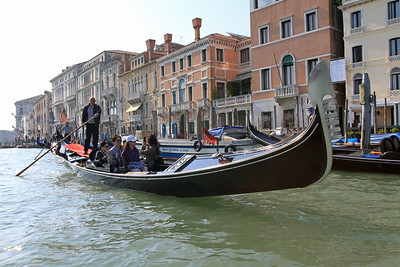Gondola on the Grand Canal near San Marco Vallaresso.