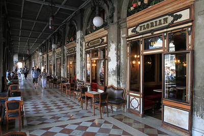 Caffe Florian, Piazza San Marco, opened in 1720 is Italy's oldest cafe.