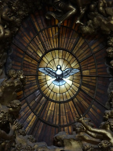 Getting 'closer' to the Holy Spirit (window).