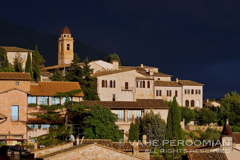 Assisi at Sunset, Rainclouds