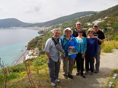Our group on Lipari, Aeolian Islands