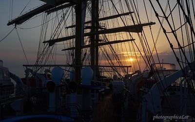 Dawn aboard the Royal Clipper