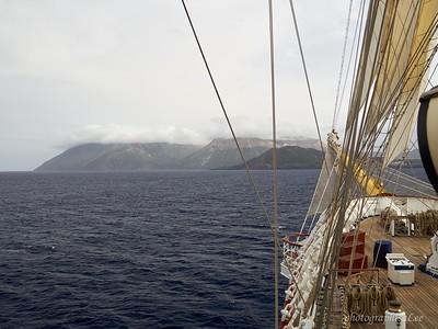 Sailing near Vulcano