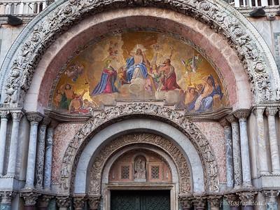 Fresco over main entrance to Basilica San Marco