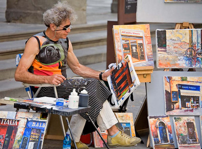 Street Artist in Florence