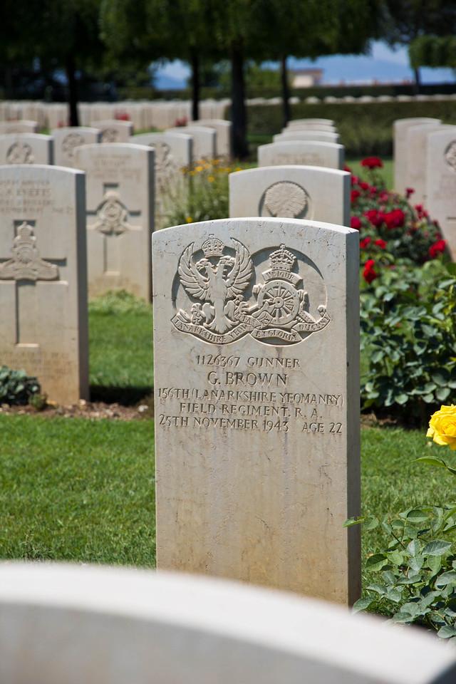 Cassino War Cemetery CWGC, Cassino