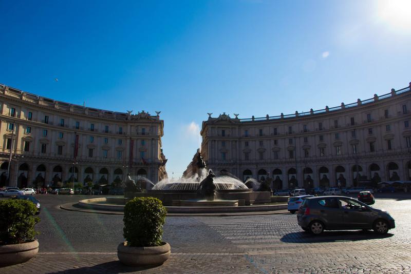The Fountain of the Naiads on Piazza della Repubblica, Rome