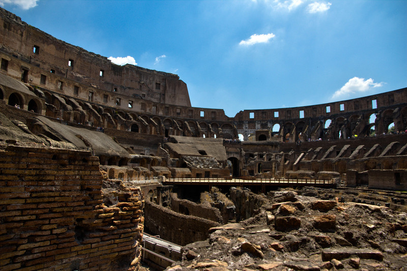 Interior of the Arena and the Cavea, Colosseum, Rome,Italy