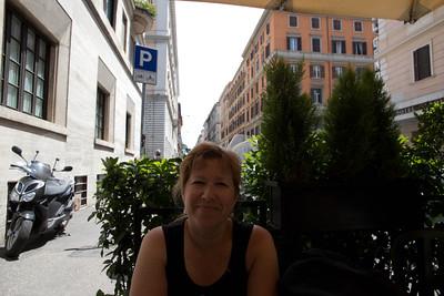 Getting some lunch in Rome