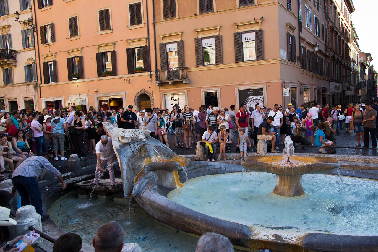 Base of Spanish Steps, Fontana della Barcaccia, Rome