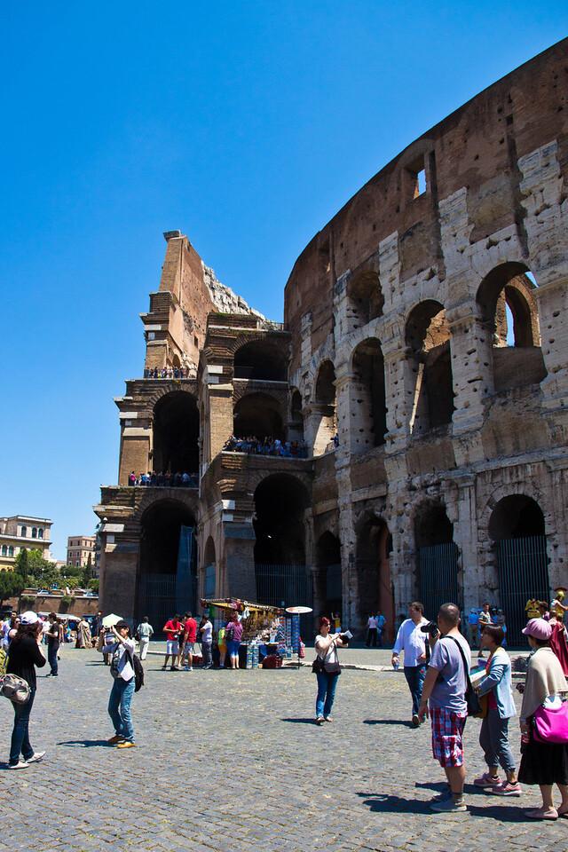Exterior of the Colosseum, Rome