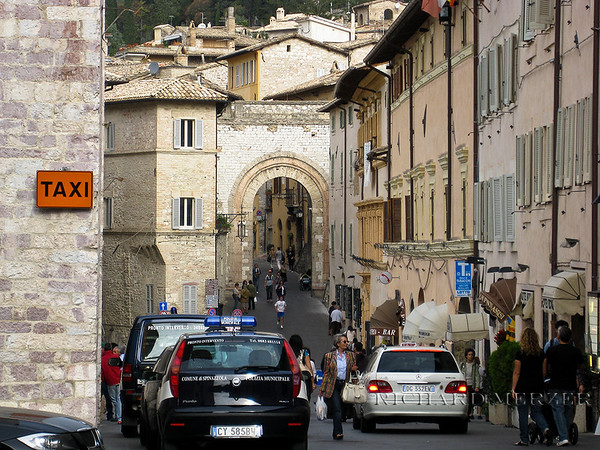 Main thoroughfare in Assisi