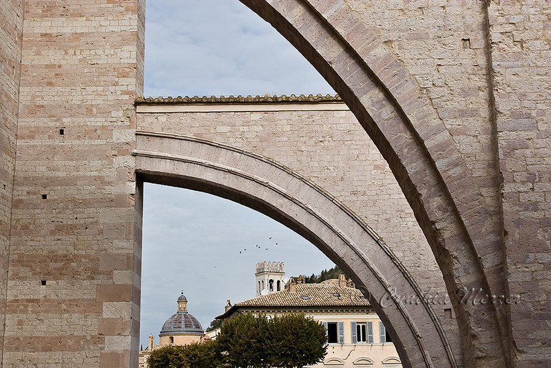 Flying buttresses of the Basilica of Santa Chiara
