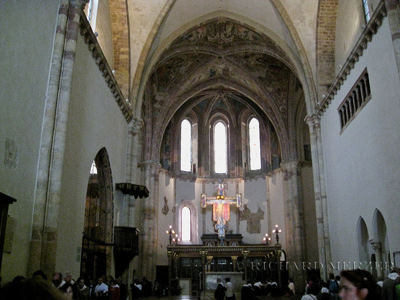 Interior of the Basilica of Santa Chiara