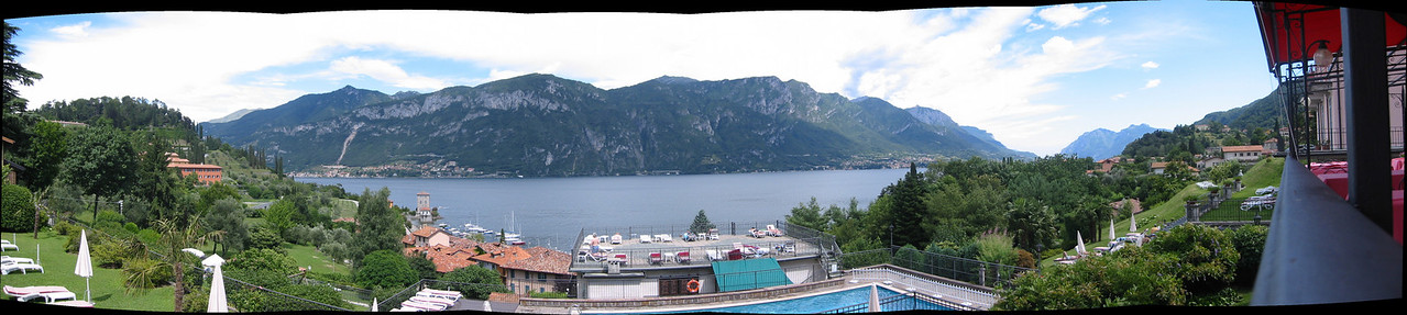 Eastern fork of Lake Como from a Bellagio hotel