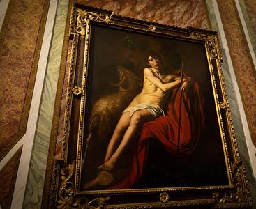 St John the Baptist, Caravaggio, 1610