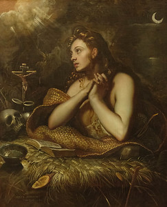 The Penitent Magdalene by Domenico Tintoretto 1598