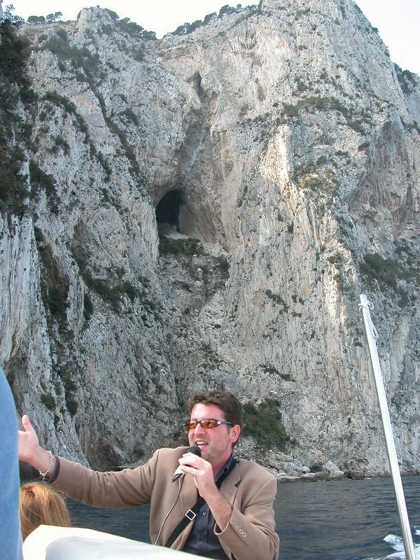 Guide in Capri.  See Madona in cave
