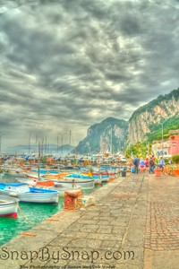 Boats of Capri Painted