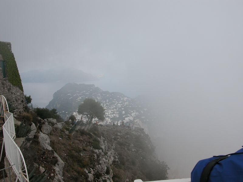 Once we got to the top, the fog had set in.