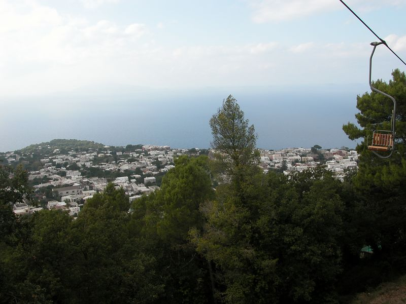 Another view from the top of Capri