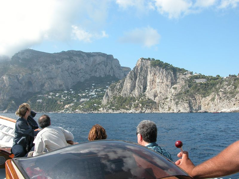 On the tour boat at Capri, Italy
