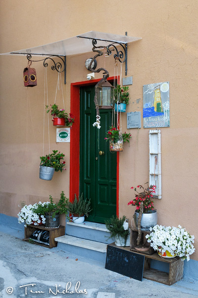 Colourful doorway in Corniglia