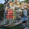 Sunrise over the harbour of Riomaggiore