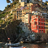 Looking up to Riomaggiore