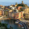 Late afternoon view, looking down over Vernazza