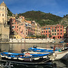 Vernazza harbour, with boats