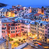 Post sunset view of Vernazza
