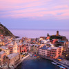 Late sunset view of the harbour of Vernazza