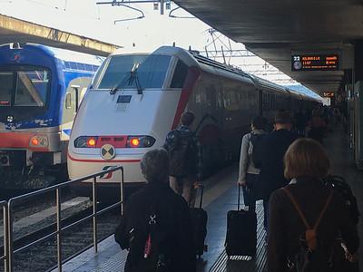 Hi-speed TrenItalia from Rome to La Spezia
