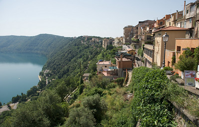 Overlooking Lake Albano from Castel Gandolfo