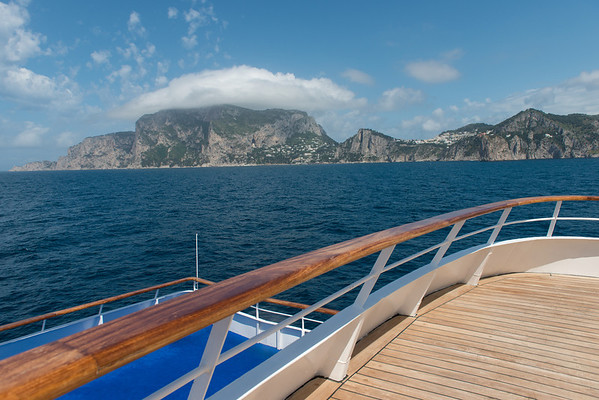 On board the Aegean Odyssey. The island of Capri.