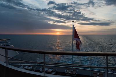 On board the Aegean Odyssey. Near Sicily.
