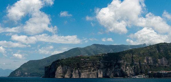 On board the Aegean Odyssey. Approaching Sorrento, Italy, and the incredible coastline.