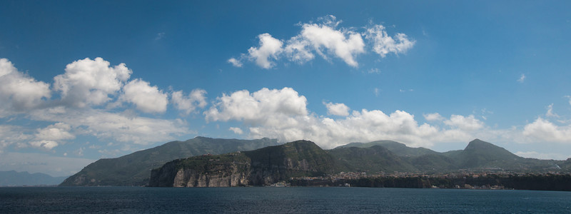 On board the Aegean Odyssey. Approaching Sorrento, Italy.