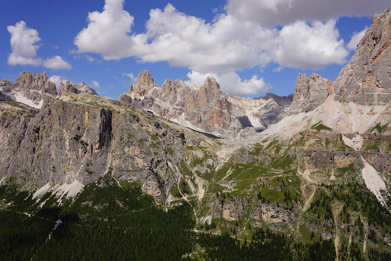 Rock climbing at Cinque Torri