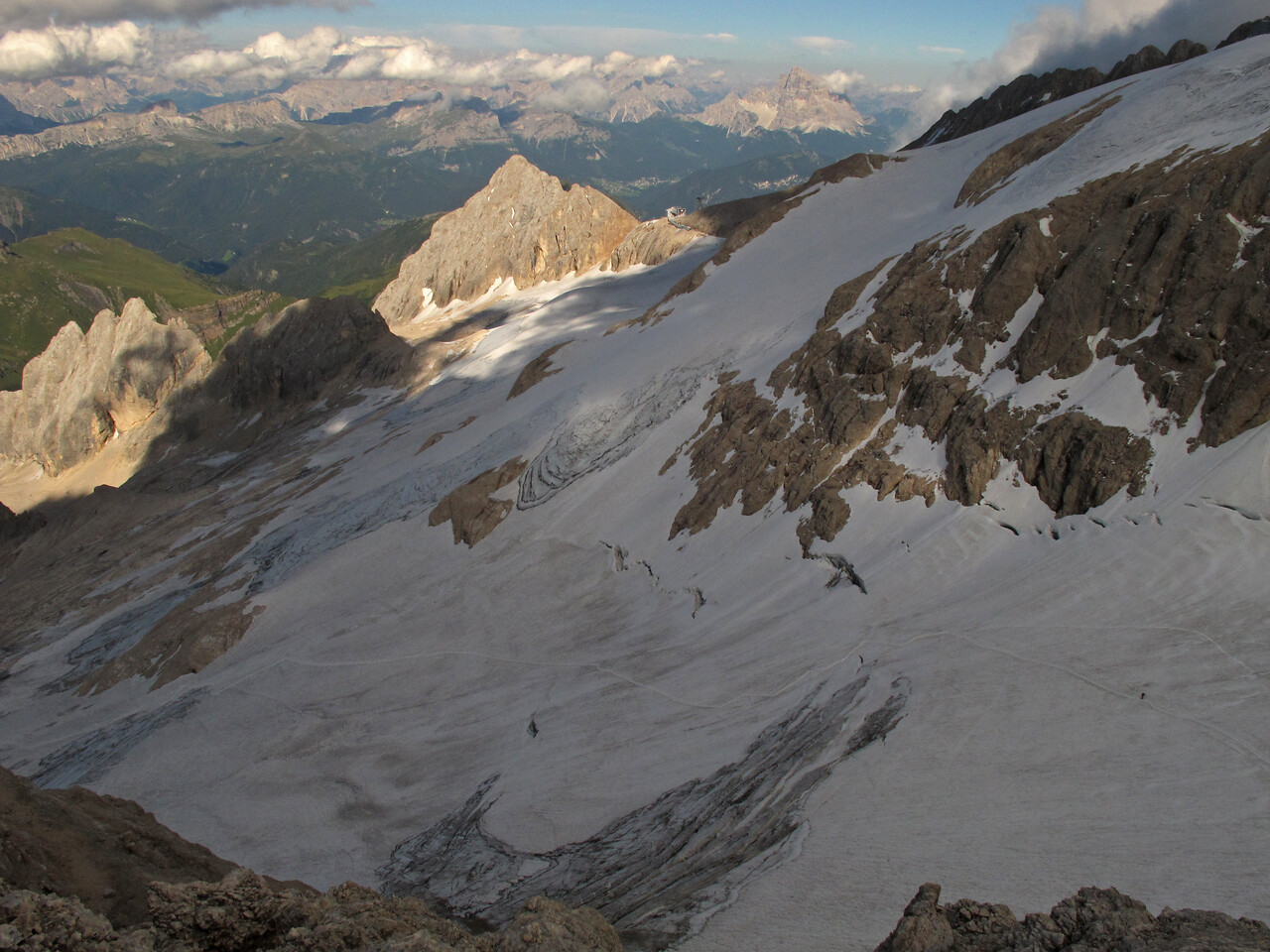 Descent from Marmolada