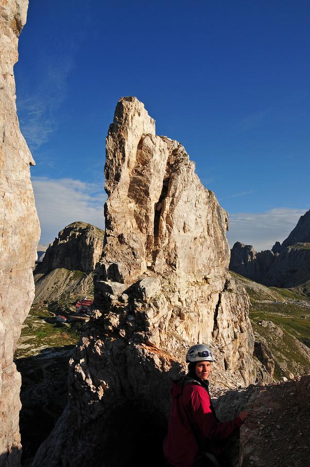 Climbing the Innerkofler