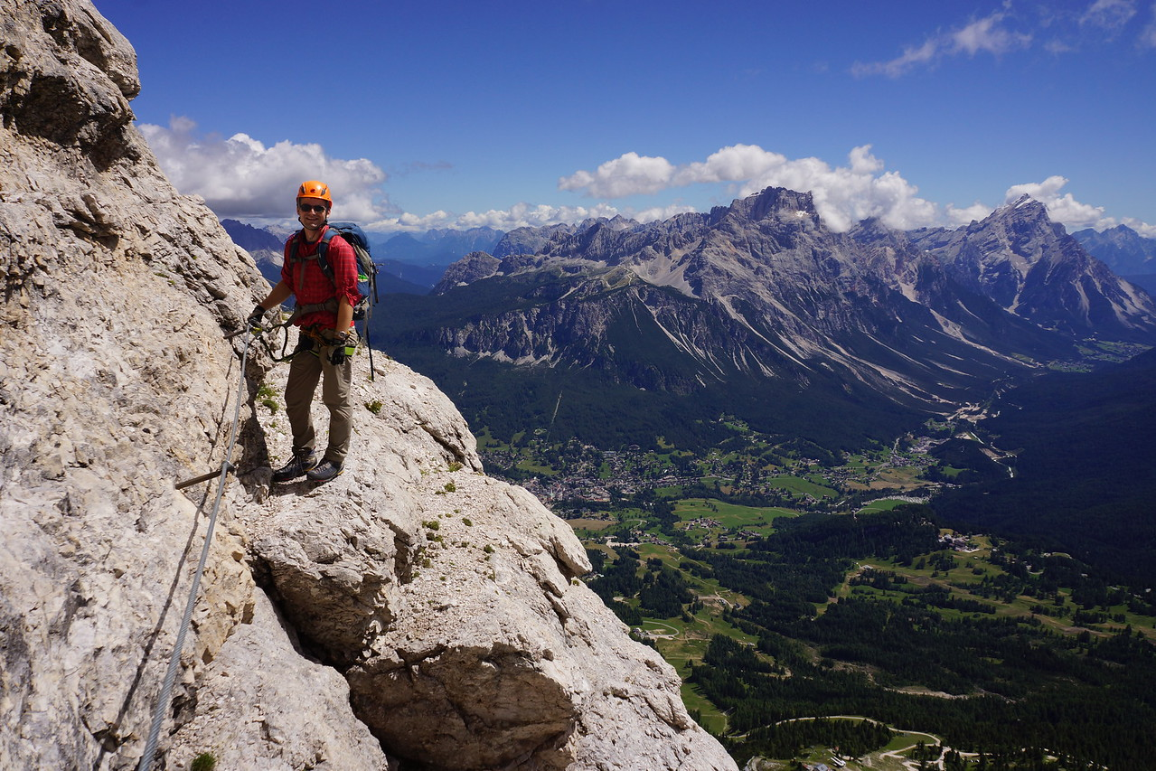 Via ferrata to Tofana di Mezzo (near Cortina d'Ampezzo)