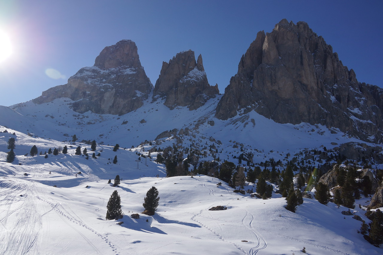 Skiing in the Dolomites