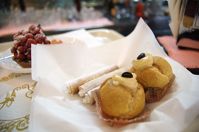 Typical sicilian pastry from Bar Rosanero in Palermo